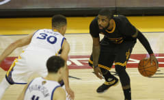Kyrie Irving Steph Curry Klay Thompson NBA Finals Game 7 2016 Oracle Arena