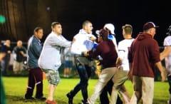 Chad Kelly at high school football game