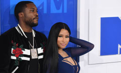 This is a photo of Meek Mill and Nicki Minaj.