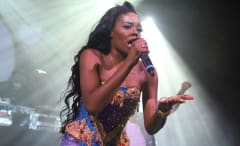 Azealia Banks performs during a recent concert.