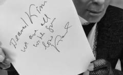 This is Karl Lagerfeld's note to Kim Kardashian