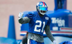 Landon Collins practices with the Giants during the 2016 preseason.
