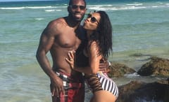 Antonio Cromartie and his wife Terricka pose for a picture.