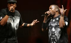 Kanye West and Jay Z Wearing 'Watch the Thrones' Tour Merch Designed by Riccardo Tisci