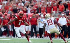 Louisville quarterback Lamar Jackson against Florida State