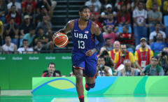 Paul George playing for USA Basketball Team