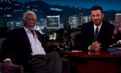 Morgan Freeman proves his narration power on 'Jimmy Kimmel Live.'