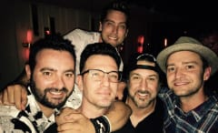*NSYNC did us all a solid and got back together for some photos at JC's birthday bash.