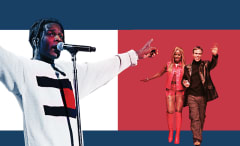 A$AP Rocky and Mary J. Blige with Tommy Hilfiger