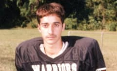 This is a high school photo of Adnan Syed from the Serial podcast.