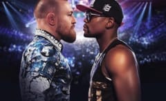 Conor McGregor and Floyd Mayweather fight poster.