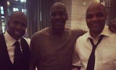 Kenny Smith, Michael Jordan, and Charles Barkley.