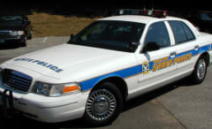 Connecticut State Police car