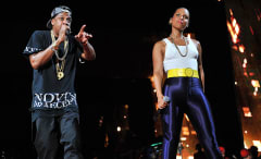 This is a photo of Jay Z and Alicia Keys.