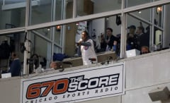Scottie Pippen singing Take Me Out To The Ball Game at Wrigley Field