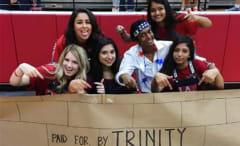 Texas high school Trump wall sign.