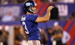 Josh Brown kicks a field goal.