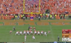 NC State kicker Kyle Bambard misses field goal