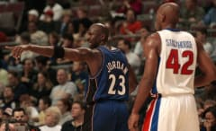 Jerry Stackhouse says Michael Jordan never sang to him on the court.