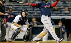 David Ortiz hitting a HR against Yankees.