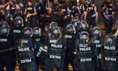 Charlotte Police In Riot Gear