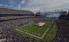 A picture of the Ravens' Stadium/crowd prior to a 2016 regular season game.