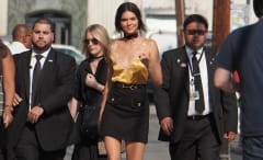 Kendall Jenner arriving at Jimmy Kimmel show, August 2016.