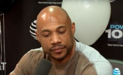 "Kareem ""Biggs"" Burke interviewing with Angie Martinez."