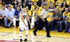 Stephen Curry Game 7 NBA Finals 2016 Ref Sidelines