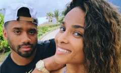This is Ciara's selfie of her with Russell Wilson.