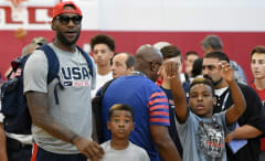 LeBron James talks about police shootings as they relate to his sons.
