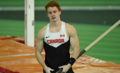 Canadian pole vaulter Shawn Barber.