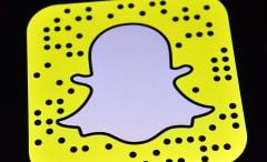 Snapchat logo on iPad.