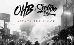 This is Chris Brown, OHB, and Section Boyz' art for 'Attack the Block.'