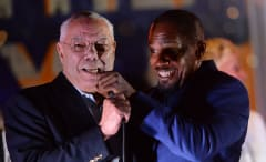 Colin Powell and Jamie Foxx