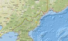 North Korea explosion location.