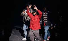 Kanye West at Yeezy Season 3 presentation.