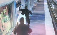 Houston police beat homless man