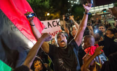 Charlotte protest photo by Sean Rayford.
