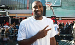 Gilbert Arenas attends a charity game.