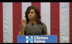 Michelle Obama speaks to voters in Arizona.