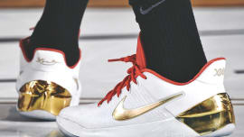 sale retailer f5daf 610ee Nike Kobe AD White Gold DeMar DeRozan
