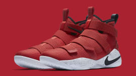 new product 4ebc0 9e5d8 Nike LeBron Soldier 11 University Red Release Date Main 897644-601. Sole  Collector