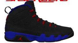 31d501c1f435 Air Jordan 9 Black Dark Concord University Red Release date 302370-065