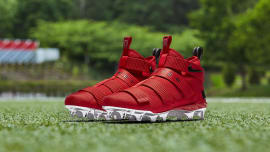 d0d25a733b7f0 Nike LeBron Soldier 11 Cleats Ohio State Red Release Date AO9146-600