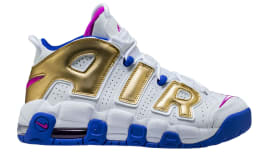 33092b6ff920 Nike Air More Uptempo GS White Fuchsia Blast Metallic Gold Racer Blue Release  Date 415082-