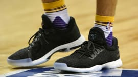 600b0aed85e48f James Harden Reacts to Lonzo Ball Wearing His Adidas Sneakers