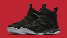 premium selection a110d b5a20 Nike LeBron Soldier 11 Bred Release Date Main 897644-002. Sole Collector ·