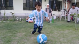 c1a019c4e62  Little Messi  Among Thousands of Afghans Displaced by War