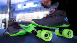d40c55303e33d Why Adidas Turned Dame Lillard s Sneakers Into Roller Skates. By Brandon  Richard. Nov 16